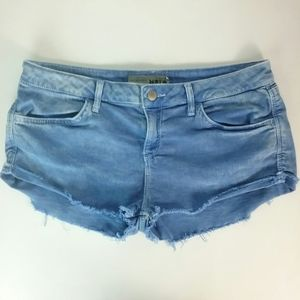 Topshop Moto Denim Sharkbite Short Shorts 10